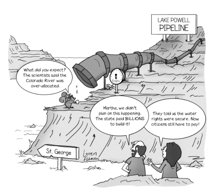 Lake Powell Pipeline Cartoon
