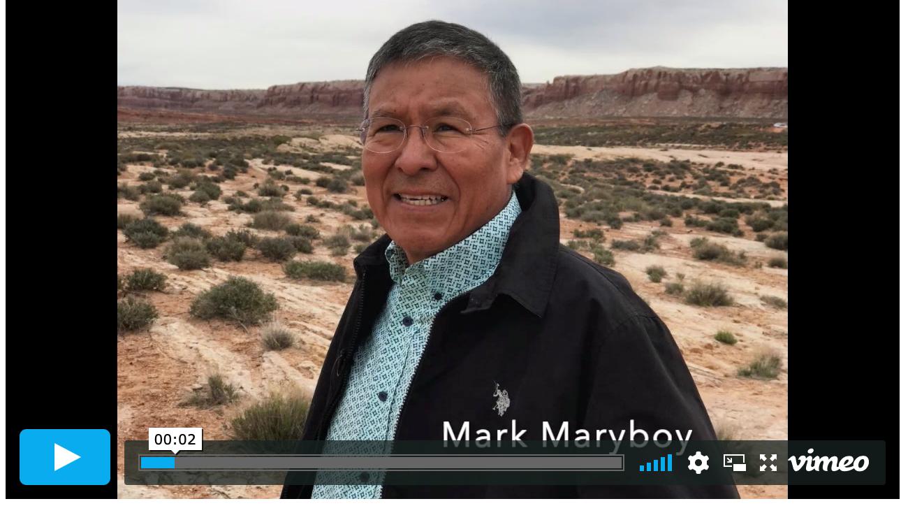 Captura de pantalla del podcast de Mark Maryboy