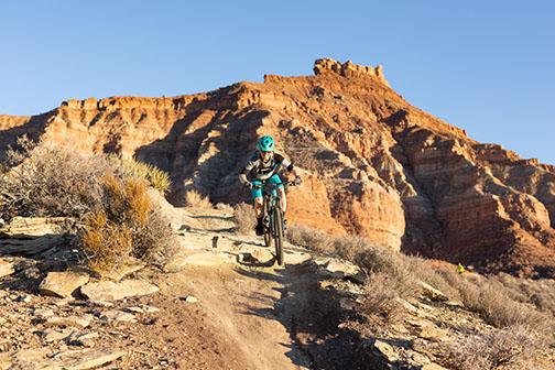 Mountain Biker at Gooseberry Mesa (Adobe Stock)