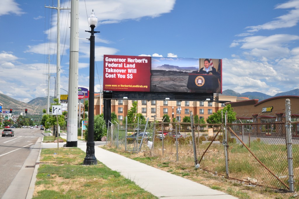 Herbert Land Grab billboard