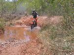 Dirt Biker in Arch Canyon Riparian Area